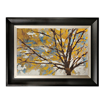 Dramatic Leaves Framed Art Print