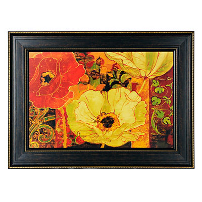 Floral Secession Framed Art Print