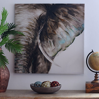 Elephant Watercolor Canvas Art Print, 30x30