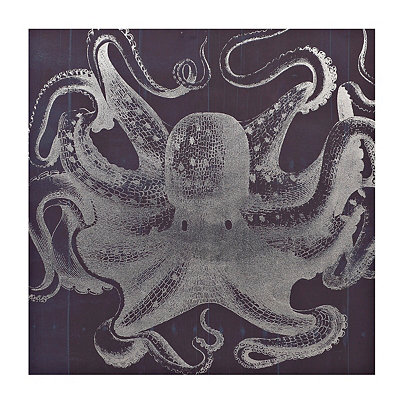 Blue Octopus Canvas Art Print