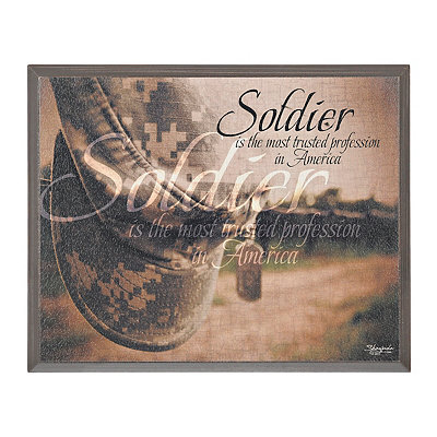 Soldier Sentiment Framed Plaque