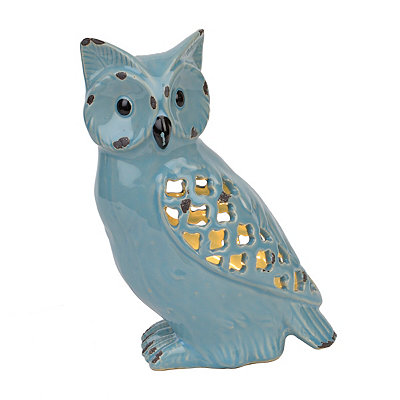 Blue Sitting Owl Night Light