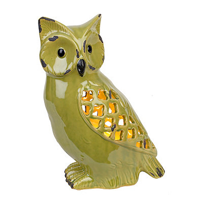 Green Sitting Owl Night Light