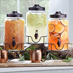Quilted Beverage Dispensers, Set of 3