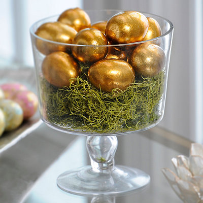 Gold Foil Easter Eggs, Set of 10
