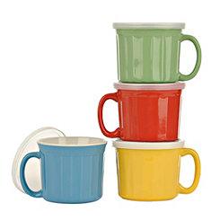 Colorful Lidded Mugs