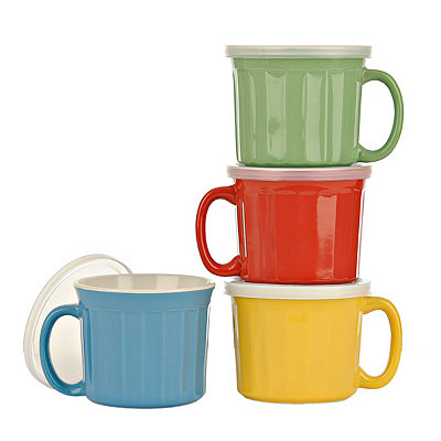 Colorful Lidded Mugs