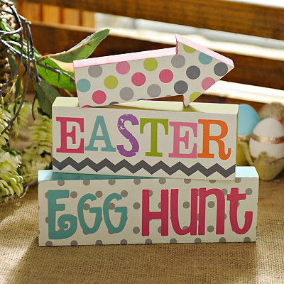 Easter Egg Hunt Blocks, Set of 3