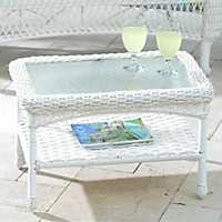 White Wicker Coffee Table