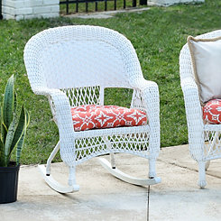 White Wicker Rocker