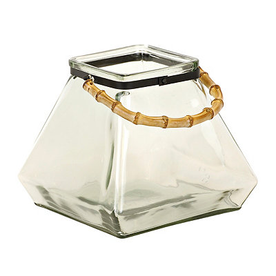 Clear Glass Square Lantern
