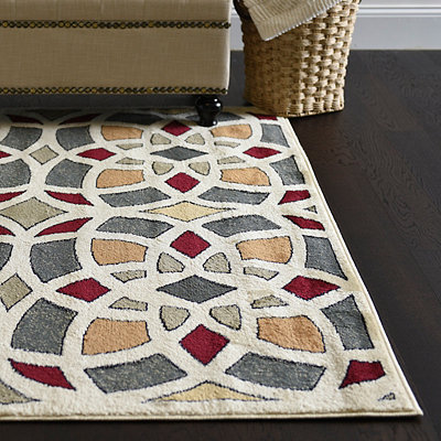 Harper Multicolor Medallion Area Rug, 8x11