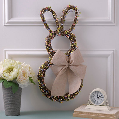 Easter Bunny Berry Wreath