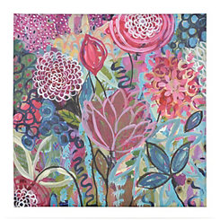 Floral Whimsy Canvas Art Print