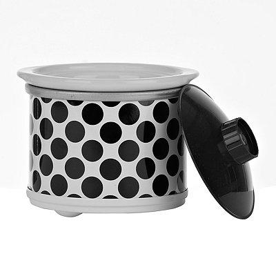 Black Polka Dot Mini Crock Pot