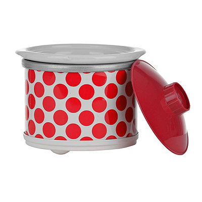 Red Polka Dot Mini Crock Pot