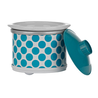 Turquoise Polka Dot Mini Crock Pot