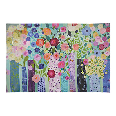 Colorful Blossoms Canvas Art Print