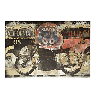 Route 66 Motorcycle Canvas Art Print