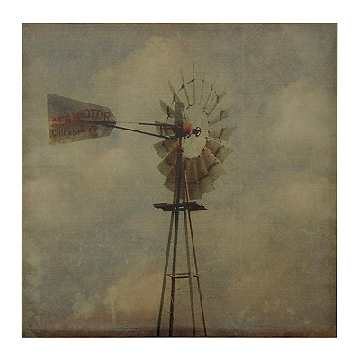 Vintage Windmill Canvas Art Print