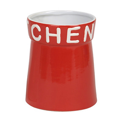 Red Kitchen Utensil Holder