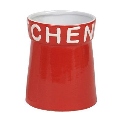 Red Kitchen Utensil Holder