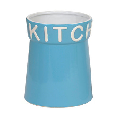 Turquoise Kitchen Utensil Holder
