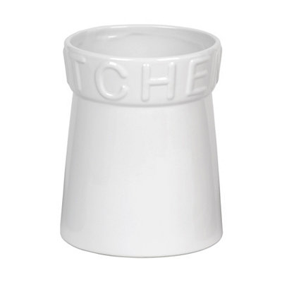 White Kitchen Utensil Holder