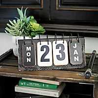 Metal Flip Calendar