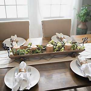 Rustic Wood Runner Tray