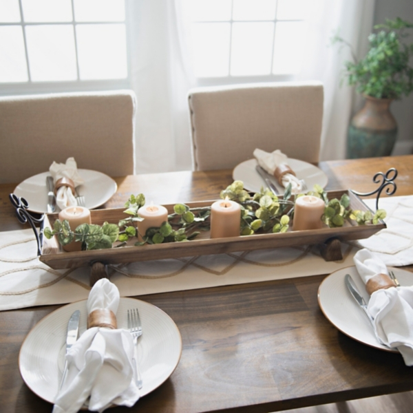 Delightful Rustic Wood Runner Tray