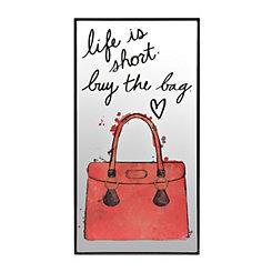 Life is Short Mirror Plaque