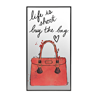 Life is Short Mirror Plaque