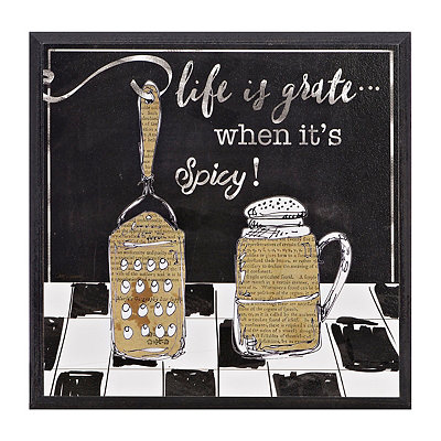 Life is Grate Wooden Plaque