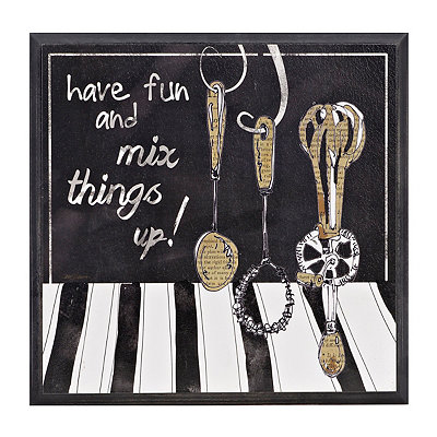 Mix Things Up Wooden Plaque