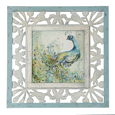 Bohemian Peacock I Framed Art Print
