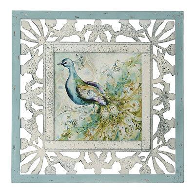 Bohemian Peacock II Framed Art Print