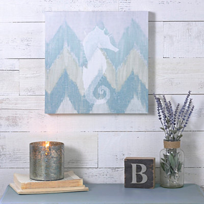 Coastal Chevron I Canvas Art Print