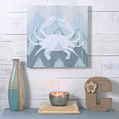 Coastal Chevron II Canvas Art Print