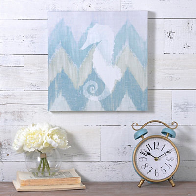 Coastal Chevron III Canvas Art Print