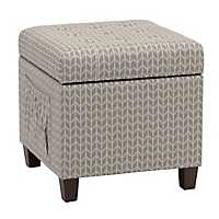 Bryson Smoke Side Pocket Storage Ottoman