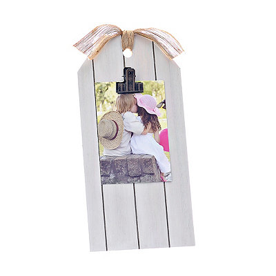 Cream Gift Tag Photo Clip Frame, 4x6