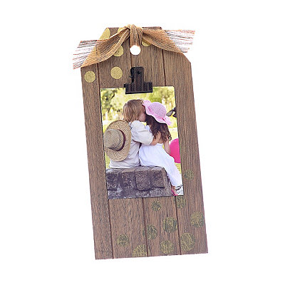Polka Dot Gift Tag Photo Clip Frame, 4x6