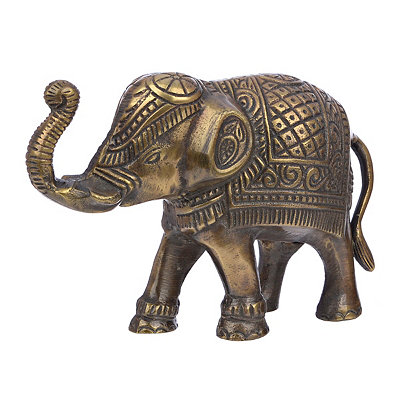 Antique Brass Elephant Figurine