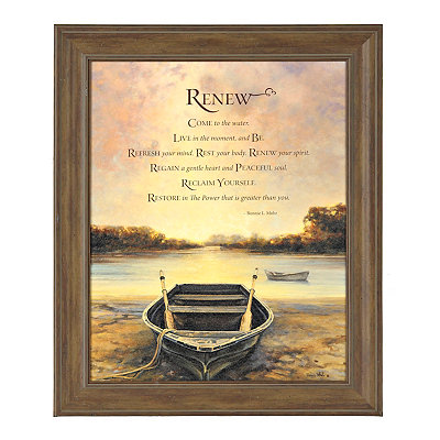 Renew Sunrise Framed Art Print