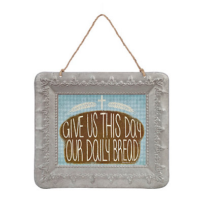 Daily Bread Galvanized Framed Art Print