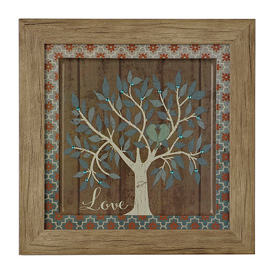 Jeweled Love Family Tree Framed Art Print