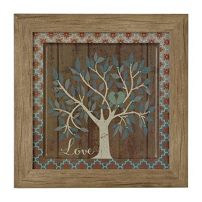 Jeweled Love Family Tree Framed Art Print