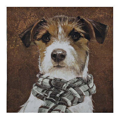 Dog with Scarf Canvas Art Print