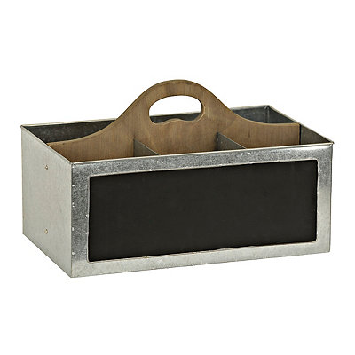 Galvanized 4-Section Desk Caddy